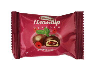 "Candy ""Plombīrs Saleks"" cream and raspberry flavoured Image"