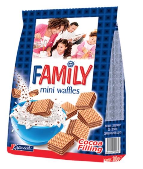 Waffles FAMILY cocoa 200gr  Image